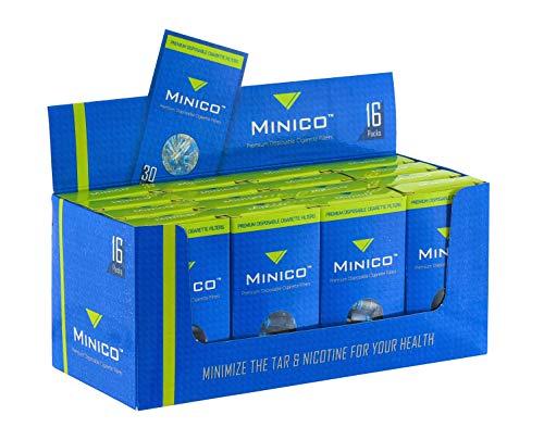 MINICO Premium 8mm Zigarettenfilter für Raucher - Box (480 Stück)
