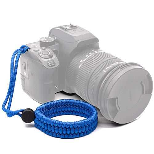 Ruberg Handschlaufe Seil Handgelenk-Schlaufe Kamera Armband Universal Kameragurt Verstellbar Paraord Kamera Handschlaufe für Canon Nikon Sony Fujifilm Olympus DSLR SLR Blau