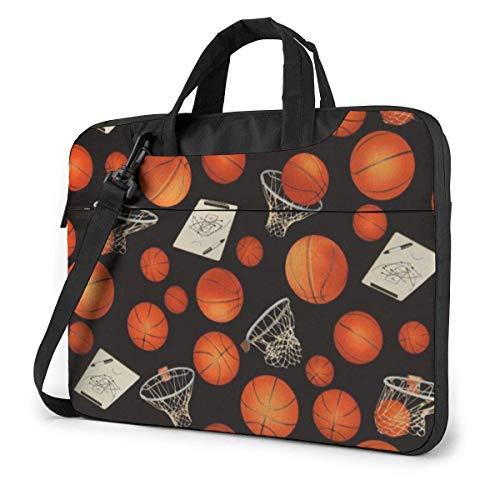 15.6″Durable Hombro Mensajero Bolsa maletín PC Baloncesto y Aros Moda Impermeable Ordenador Portátil/portátil/Tablets