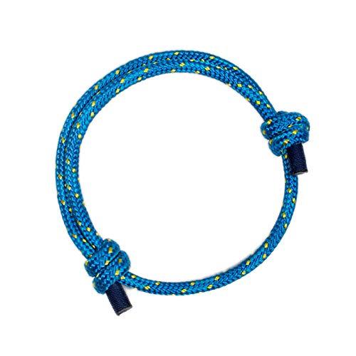 Wind Passion Exceptional Unique and Stylish Blue Braided Men Bracelet