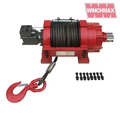 Winchmax 20411 kg hydraulische Seilwinde LKW Industrie Gewerbe Stahlseil & Drehhaken