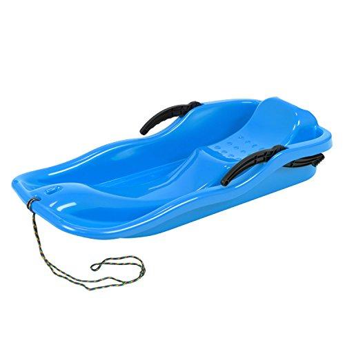 Prosperplast Schlitten Race in Kunststoff - Seil und Lenkung - Bremsen Blau