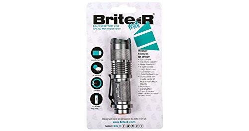 Brite-r lampe torche LED avec zoom – Midi CREE XP-E Q3 LED Mini Handheld réglable Poche lampe de poche – Argent
