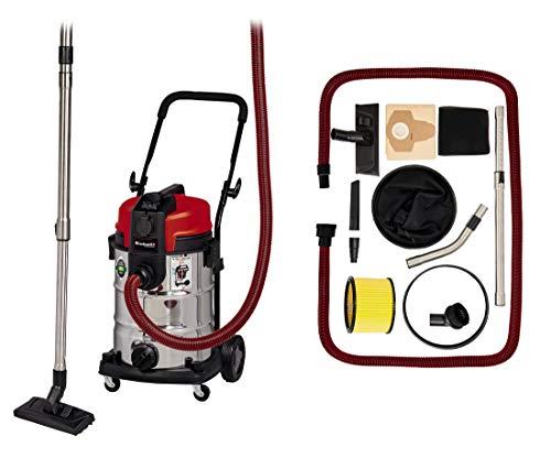 Einhell TE-VC 2230 Sac - Aspirador de Agua y Polvo (1150 W, Sistema de filtración para Polvo Fino, depósito de Acero Inoxidable de 30 L, Incluye Varios Accesorios)