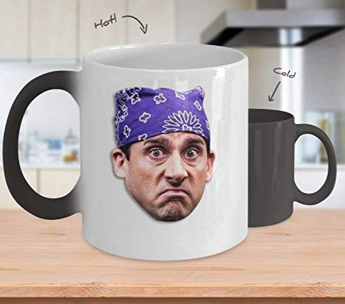 Coffee Mug for Best Gifts Prison Mike Coffee Mug Cup (Heating, Color is Changing) Funny The Office Merchandise Accessories Sticker Merch Shirt - Michael Scott Dwight Kelly Jim Gift for Dund