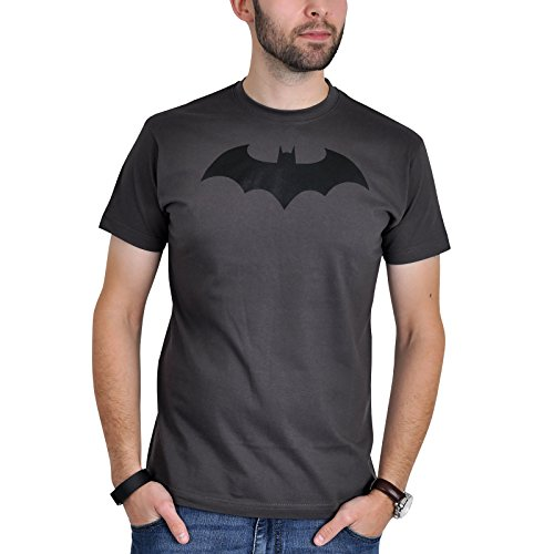 T-Shirt Batman avec Bat Logo Comic Symbol Gris - S