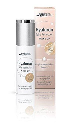Hyaluron Teint Perfection Make up Natural Gold mit Anti-Aging-Effekt für einen natürlichen, ebenmäßigen Teint von Medipharma