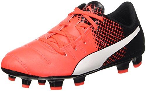 Puma Evopower 4.3 Fg Jr Scarpa da Calcio, Rosso (Blk/Wht/Red), 5.5