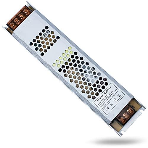 REYLAX® LED Driver 24V 150W 6.25A, Trasformatore di Commutazione da CA a CC, Alimentatore a Tensione Costante, Alimentatore a Bassa Tensione per Applicazioni LED