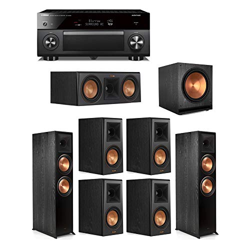 Check Out This Klipsch 7.1 Ebony System - 2 RP-8000F,1 RP-500C,4 RP-500M,1 SPL-150,1 RX-A3080 Recei...