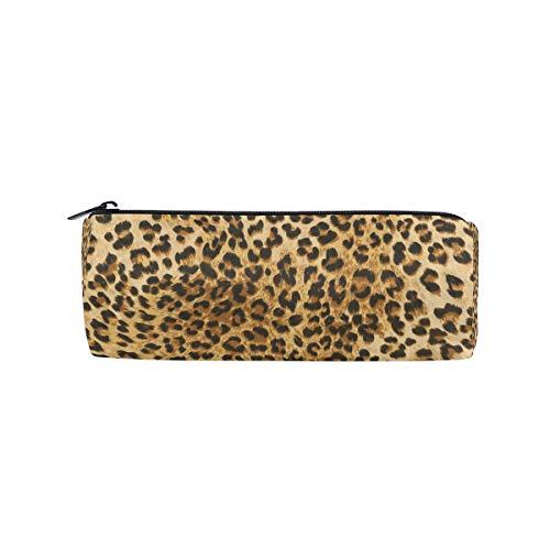 JOKERR Pencil Case Animal Leopard Print Pencil Bag Pen Zipper Bag Pouch Organiser Makeup Brush Bag for Girls Stationery Office Supplies