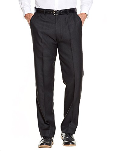 Mens Quality Formal Smart Casual Work Trousers Home/Office  Black 38W x 31L
