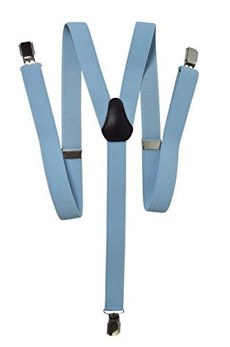 Olata Unisex Bretelle elastiche 'Magro' Stile, 2.5cm larghezza - Blu Chiaro