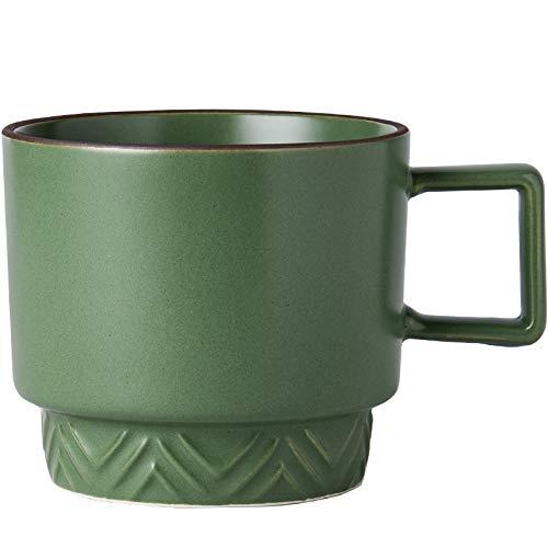 Taza apilable simple para el hogar, taza de cerámica, taza esmaltada de Color mate, taza de café, té, taza de agua, oficina con taza de agua A
