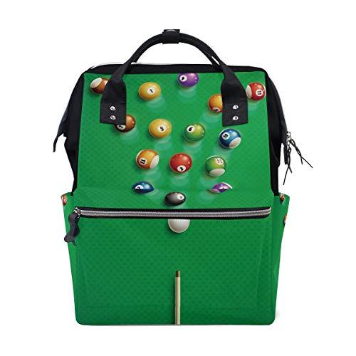 Xiumeimei Sport Billiards Diaper Bags Mummy Tote Bags Large Capacity Multi-Function Backpack