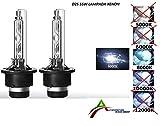 KIT 2 LAMPADE DI RICAMBIO XENON D2S 55W LUCE A 8000K