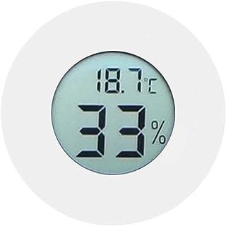 Termometer Hygrometer, Cirkulär LCD-skärm Hög noggrannhet Fuktighetsmätare Digital inbäddad Fuktsäker för displayskåp för ...