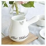 LICAILONGJIN7 Jarra de Leche y azucarero Clásico Blanco Porcelana Creamer, jarros pequeña Jarra de Leche Salsa Creamer, Jarabe de café Tarro de Servidor Salsera y Puesto