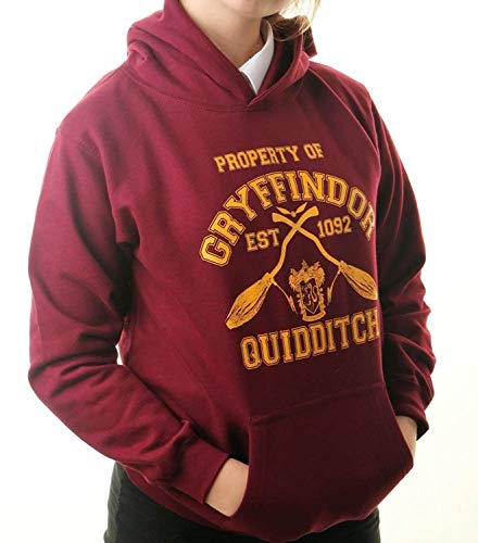 Sharp Threads Sharp Threads Kapuzenpullover ?Team Gryffindor?, inspiriert von Harry Potter, Quidditch, für Kinder (7 - 8 Jahre)