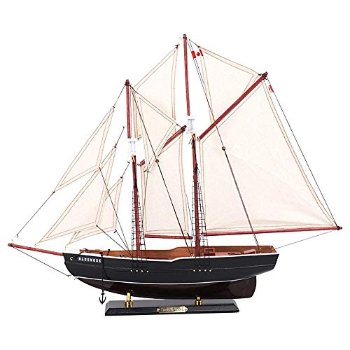 Militärisches Segelboot-Modell, Blauer Nase Segelboot Kanada Modell, Heimdekoration und Geschenke, 17 Zoll x 14.4inch 8bayfa