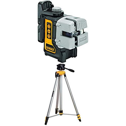 DEWALT DW089K Self Leveling 3 Beam Line Laser, Black with DW0881T Laser Tripod