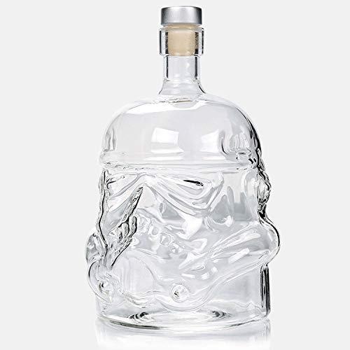 Helm Whiskey Kristallglas Stormtrooper Weinkaraffe Flaschen-magische Belüfter Weingläser Zubehör Glas Set (2)