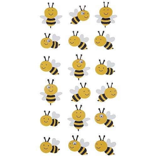 3-d Bumblebee Glitter Foam Dimensional Stickers Bee by Paper Studio