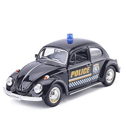 Legierung Sportwagen Kinder Spielzeugauto Simulation Auto Modell Rennwagen Tür Trägheit Gleiten 3 Jahre alte Kinder Geburtstagsgeschenk-Käfer 1977 Polizeiauto