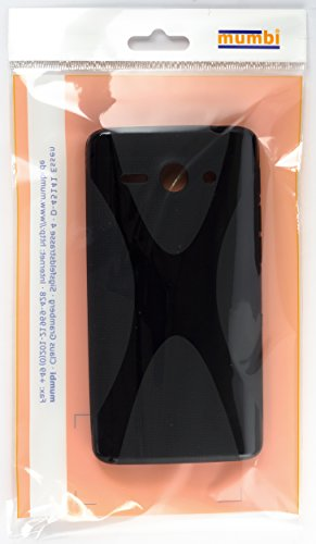mumbi Hülle kompatibel mit Huawei Ascend Y530 Handy Case Handyhülle, schwarz - 4