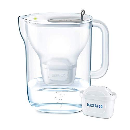 BRITA Wasserfilter Style XL hellgrau inkl. 1 MAXTRA+ Filterkartusche – Großer BRITA Filter in modernem Design zur Reduzierung von Kalk, Chlor & geschmacksstörenden Stoffen