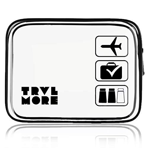 Transparante Toilettas - Doorzichtige Make Up en Cosmetica Tas - Vloeistoffen Etui - Travel Bag en Organizer voor Handbagage & Reizen - Voor Dames, Heren, Kinderen - 2.1 Liter - Zwart