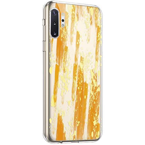 Coque pour Samsung Galaxy Note 10 Plus Étui Silicone Transparente,Surakey Motif Peinture à l'huile [Ultra Mince] Souple TPU Housse Étui Protection TPU Bumper Silicone Etui pour Galaxy Note 10 Plus