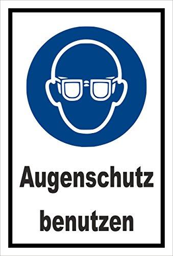 Stickers schild - Bodstekens - oogbescherming gebruiken - komt overeen met DIN ISO 7010/ASR A1.3 - S00361-008-A +++ verkrijgbaar in 20 varianten