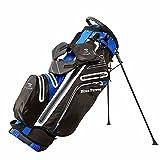 JUNZ Sac de Golf Trepied Léger avec Séparateur à 6 Positions,Sac de Chariot de Golf,Sac de Voyage de Golf Portatif,Plusieurs Poches,Bleu