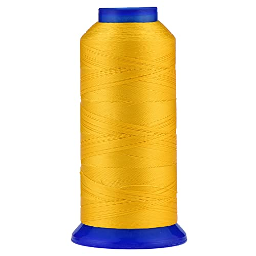 Selric [1500Yards / 30 Colors Available] UV Resistant High Strength Polyester Thread #69 T70 Size 210D/3 for Upholstery, Outdoor Market, Drapery, Beading, Purses, Leather (Golden Yellow)
