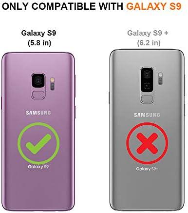 MOSNOVO Coque Galaxy S9, Nuage Clair Design Motif Transparente Arrière avec TPU Bumper Gel Coque de Protection pour Samsung Galaxy S9