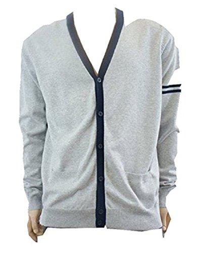 M&P Fashion - Gilet - Homme Gris Grey / Navy - Gris - Taille Unique