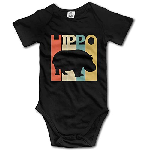 WlQshop Body Bébé Garçon Fille, Retro Hippo Baby Rompers Short Sleeve Baby Girls Bodysuit
