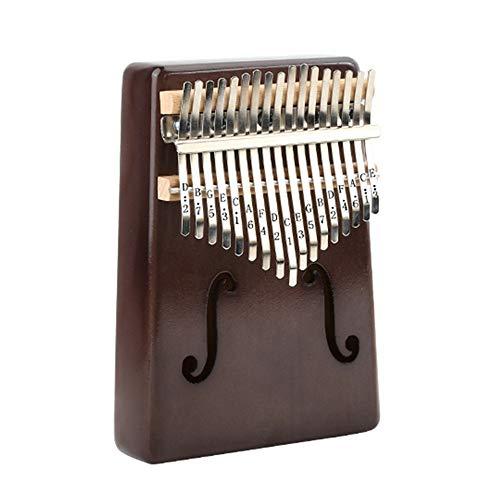 Piano Portable Kalimba Mahonie 17-Key Kalimba Thumb Piano Standard C-Finger Piano Metal Bewerkte Tone En Tuning Hammer Handtas Handtas voor kinderen Volwassen beginners