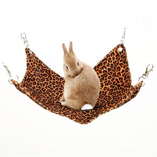 GuangLiu Camas para Gatos Cama Hamster Camas de Conejo para Interiores Ardilla Bolsa de Dormir Jaula para...