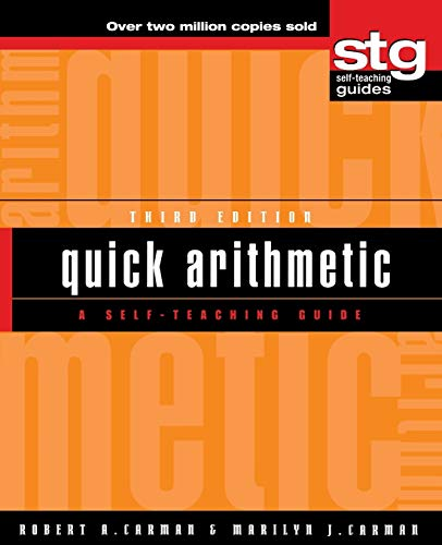 Quick Arithmetic A Self Teaching Guide Wiley Self Teaching Guides