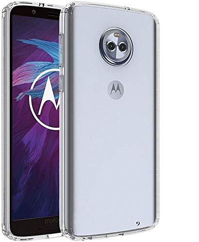 REY 3X Funda Carcasa Gel Transparente para Motorola Moto G6 Plus, Ultra Fina 0,33mm, Silicona TPU de Alta Resistencia y Flexibilidad