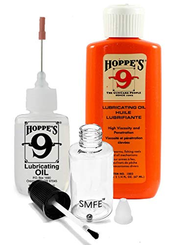 Gun Oil Combo Pack - No. 9 Precision Bundled with 2-1/4 oz Refill and SMFE Empty Applicator Bottle