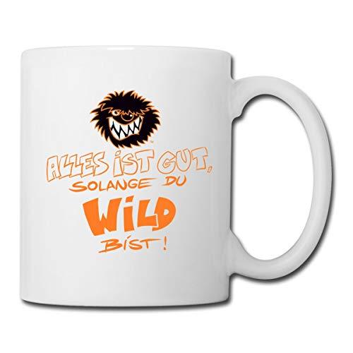 Die Wilden Kerle Spruch Motto mit Logo Tasse, Weiß