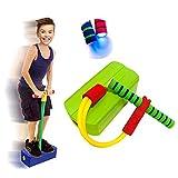 TIANM Jumper Pogo en Mousse pour Enfants, Jumper Bounce Bounce Sense Formation Tige Pogo Stick avec Flash, Enfants Foam Grenouille Jouets Jouets Amusant Et Bon Exercice Green
