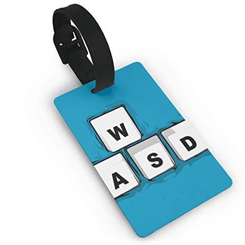 WSAD - Etiqueta de equipaje para bolsa de viaje, etiquetas para maleta, nombre y dirección, tamaño 5.2 x 9.7 cm