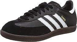adidas Herren Fußballschuh Samba Low-Top Sneakers, Schwarz (Black/running White Footwear), 41 1/3 EU