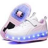 LED Luces Zapatos con Ruedas Dobles para Pequeños Niños y Niña Automática Calzado de Skateboarding Deportes de Exterior Patines en Línea Brillante Mutilsport Aire Libre y Deporte Zapatillas