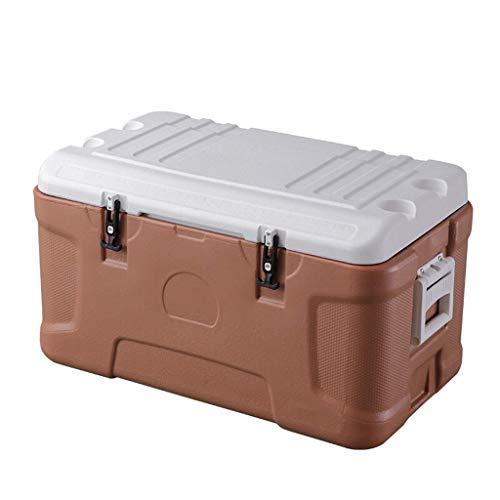 ROM Cooler Box 30L / 110L / 160L PU Enfriador de Bebidas portátil con Cofre de Hielo, para Acampar, barbacoas, Actividades al Aire Libre, café, Beige