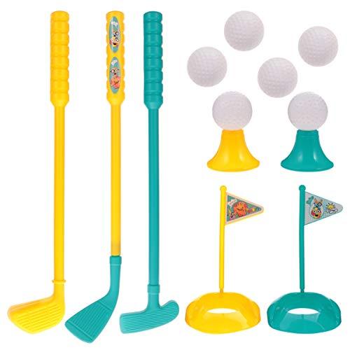 VOSAREA 13 Stücke Kinder Golf Set Golfschläger Golfbälle Golf Tees und Golf Putting Cup mit Flagge Golfset Mini Golfspiel Minigolf Kinderspiele Outdoor Sport Spielzeug